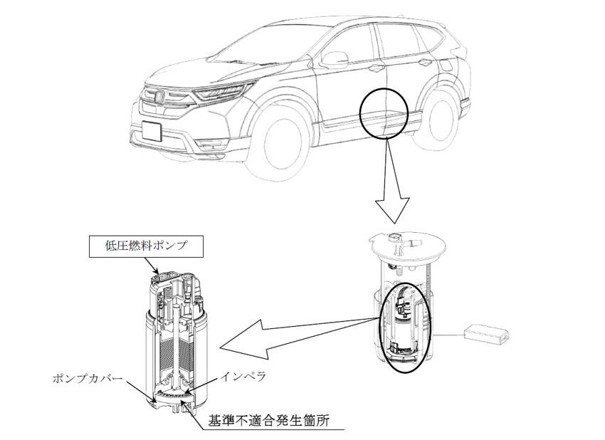 【リコール】ホンダ「CR-V」など4車種の燃料ポンプに不具合