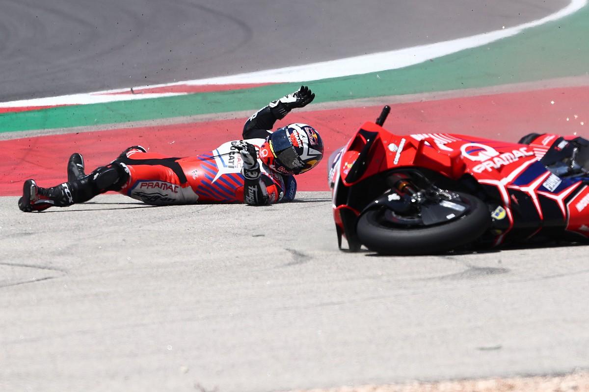 【MotoGP】2番手走行中に転倒のザルコ、原因はギヤボックストラブル「自分のミスだと思っていたけど……」