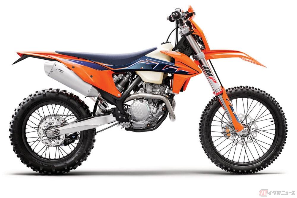 2スト150ccから4スト500ccまで KTMジャパンが2022年型のエンデューロモデル12機種を発表
