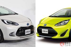 トヨタ「アクア」の新旧比較! 価格・燃費・デザイン・ボディサイズ・走りはどう進化した?