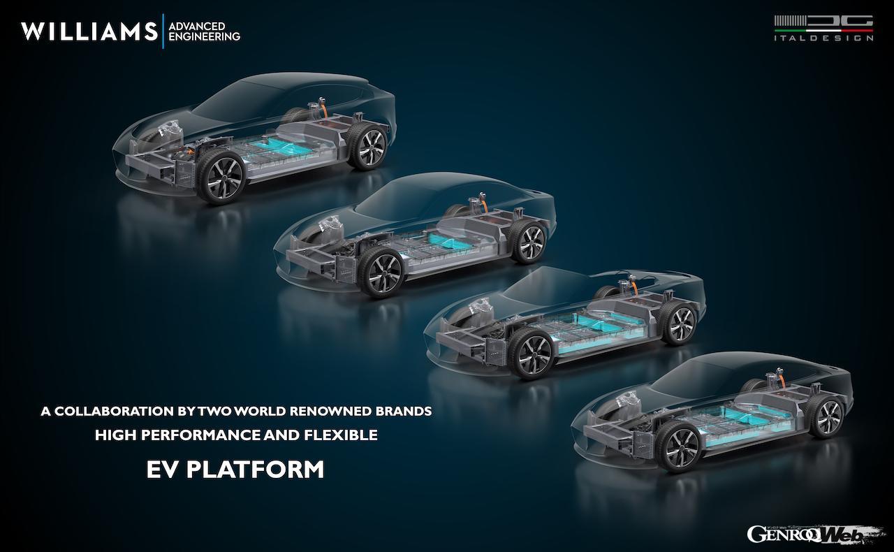 1300ps超のスーパーEV開発をサポート! イタルデザインとウィリアムズが開発した最新アーキテクチャー「EVX」とは? 【動画】