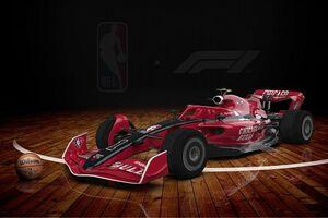 """F1がバスケットボール最高峰NBAと夢のコラボ! F1ドライバーによる""""フリースロー大会""""も実施"""