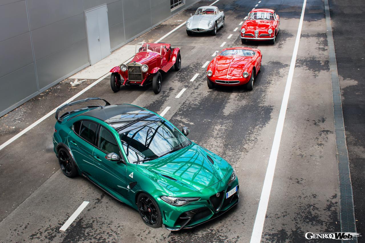 アルファロメオ、39回目を迎える「ミッレミリア 2021」に4台のヒストリックカーと公式ペースメーカーを投入