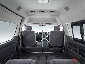 トヨタが「ハイエース」用飛沫感染対策セパレータを発売! 乗客や運転手の飛沫感染リスクを低減