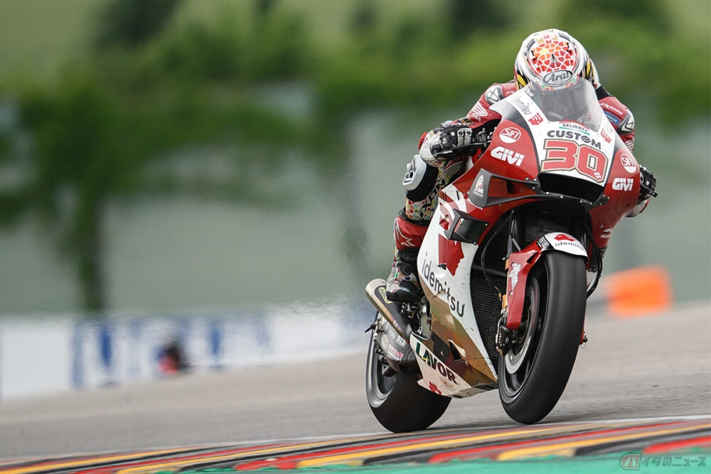 【MotoGP第8戦ドイツGP】世界戦に挑む中上貴晶選手 悔恨のタイヤ選択で13位