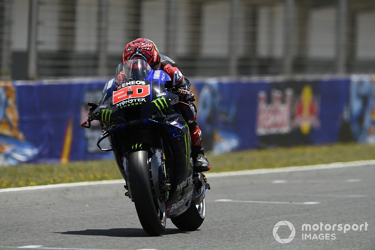 """【MotoGP】""""まさか""""失速のクアルタラロ、原因は腕上がりと認める。母国戦フランスGPに向けた対処は未定 スペインGP"""