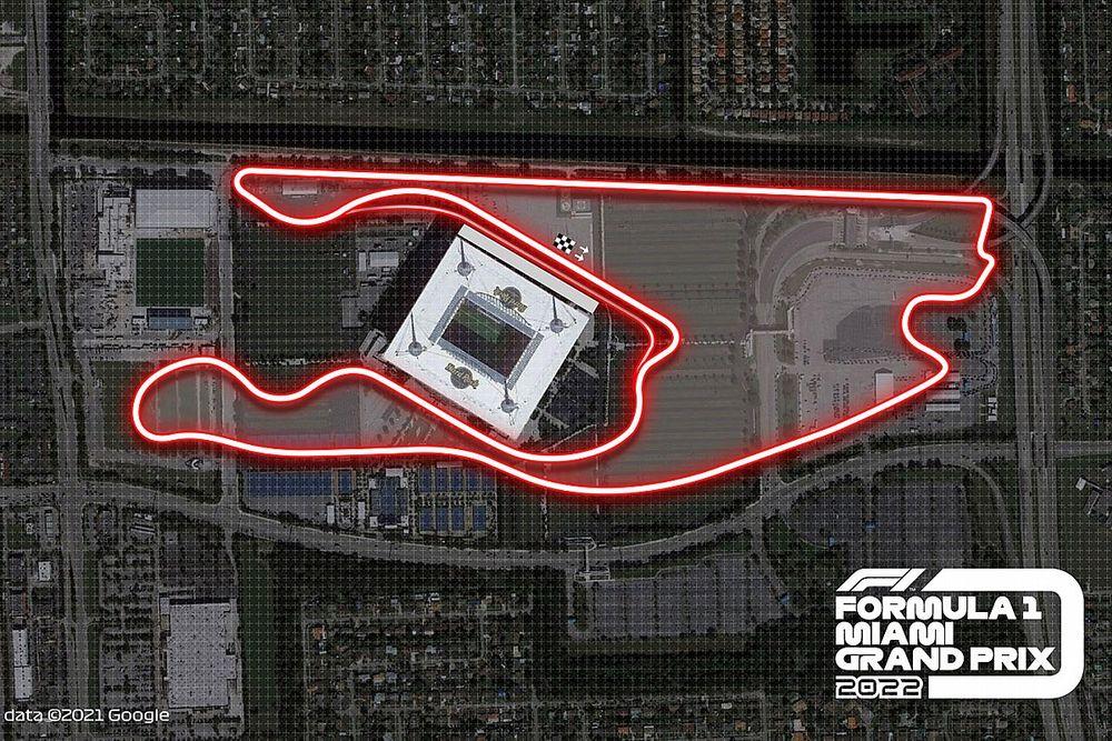 2022年に初開催のF1マイアミGP、決勝日は5月8日に。ヨーロッパラウンド前の開催に
