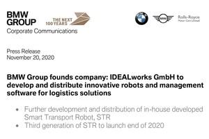 BMWが物流の自動運転化を強化