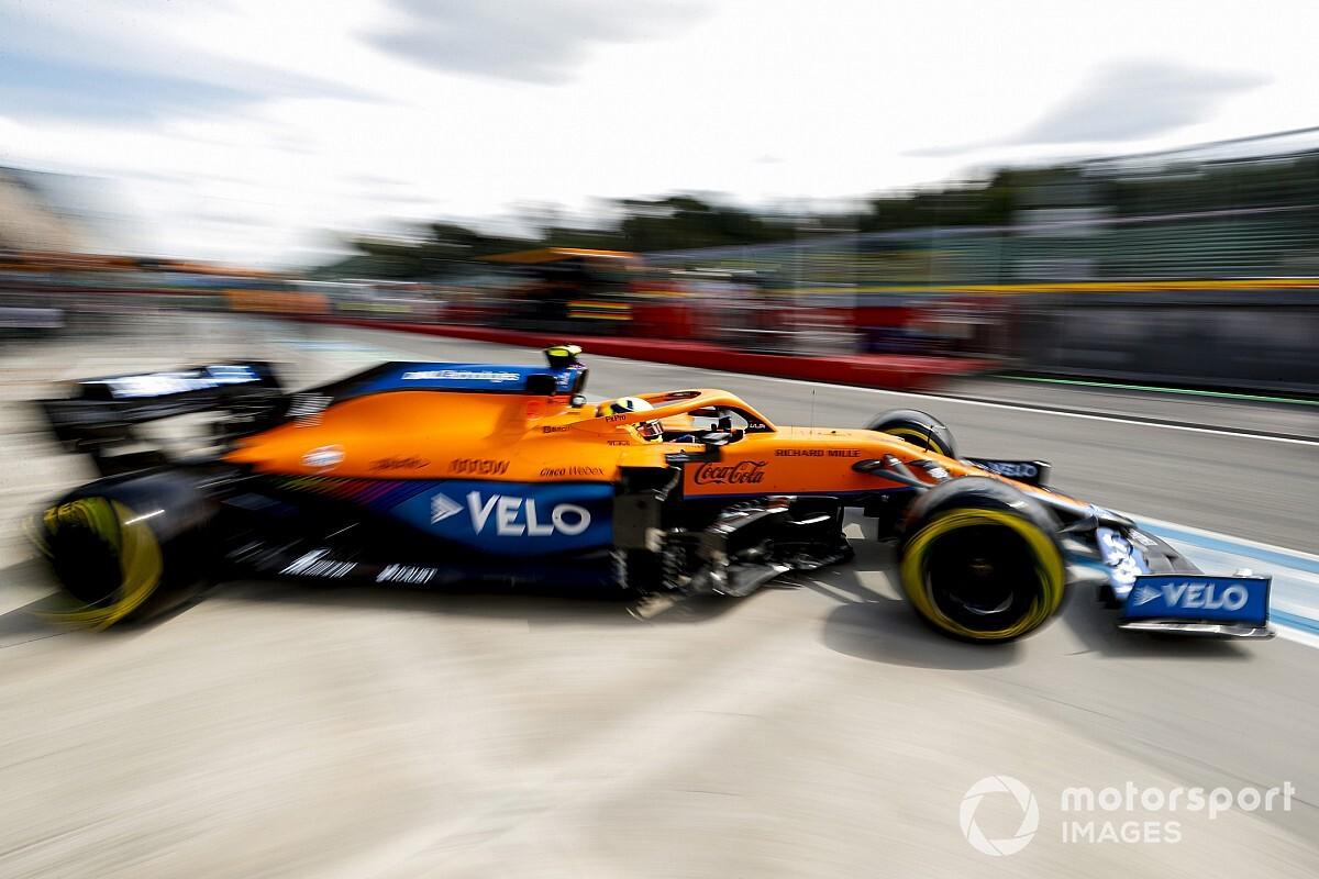 フェラーリの速さは「驚きではなかった」と語るノリス。マクラーレンとイモラの相性は微妙? F1エミリア・ロマーニャGP