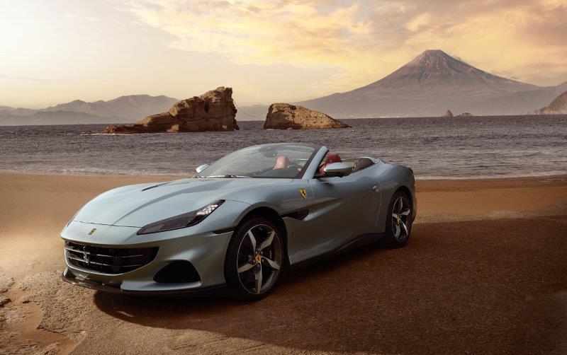 7500rpmで620cvの最高出力を引き出す3855ccのモンスターエンジンを搭載したフェラーリのGTスパイダー「Portofino M」