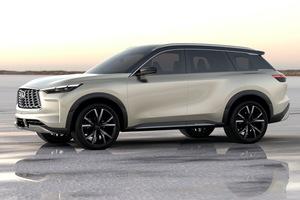 インフィニティの次期「QX60」を示唆する3列シートSUVのデザイン公開! 量産モデルは2021年に発表 