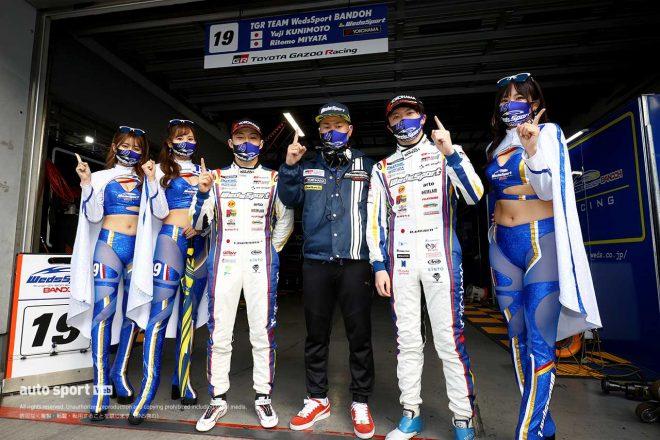 初PP獲得の宮田莉朋「ほぼ初めてのQ2でポールポジションを獲得できて嬉しい」【第2戦GT500予選会見】