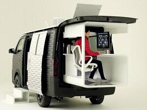 日産がカスタマイズカーを公開。新型ノートのエアロ風やキャラバンの移動野外オフィス仕様に注目