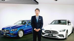 メルセデス・ベンツ日本、新型「Cクラス」発表 7年ぶりフルモデルチェンジ 全モデル電動車で今秋から納車開始
