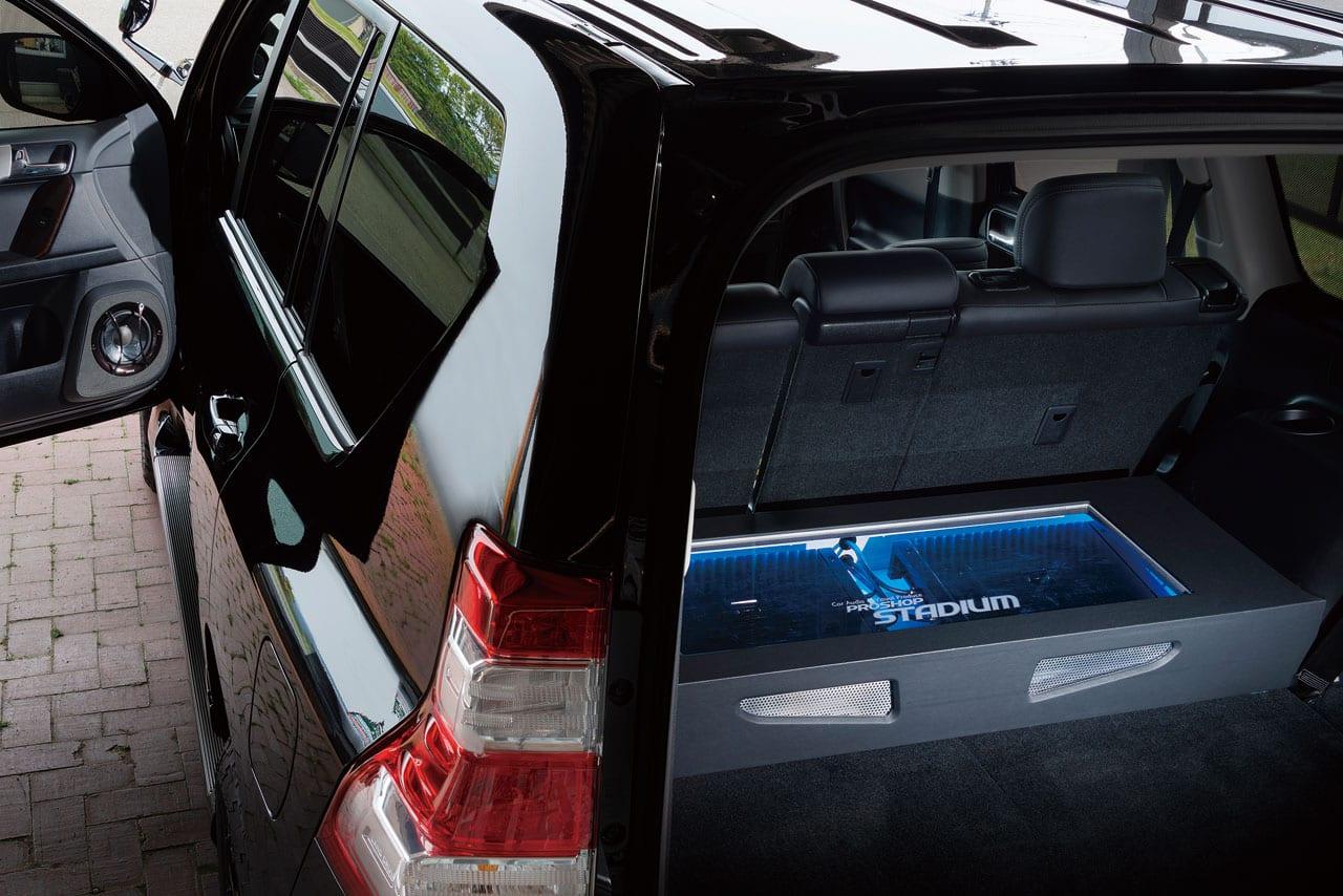 スピーカーやデッドニングなどがパッケージになったスターターセットも 150プラド オーディオ カスタム