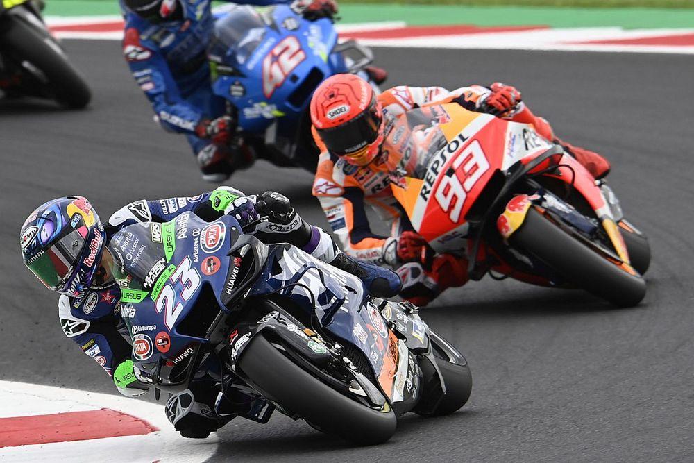 """【MotoGP】マルケス、苦しい""""右回り""""サンマリノの4位に満足げ「予想していなかった結果。まともなレースができた」"""