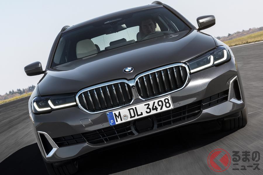 よりシャープな顔つきに! BMW「5シリーズセダン・ツーリング」の改良新型が世界初公開