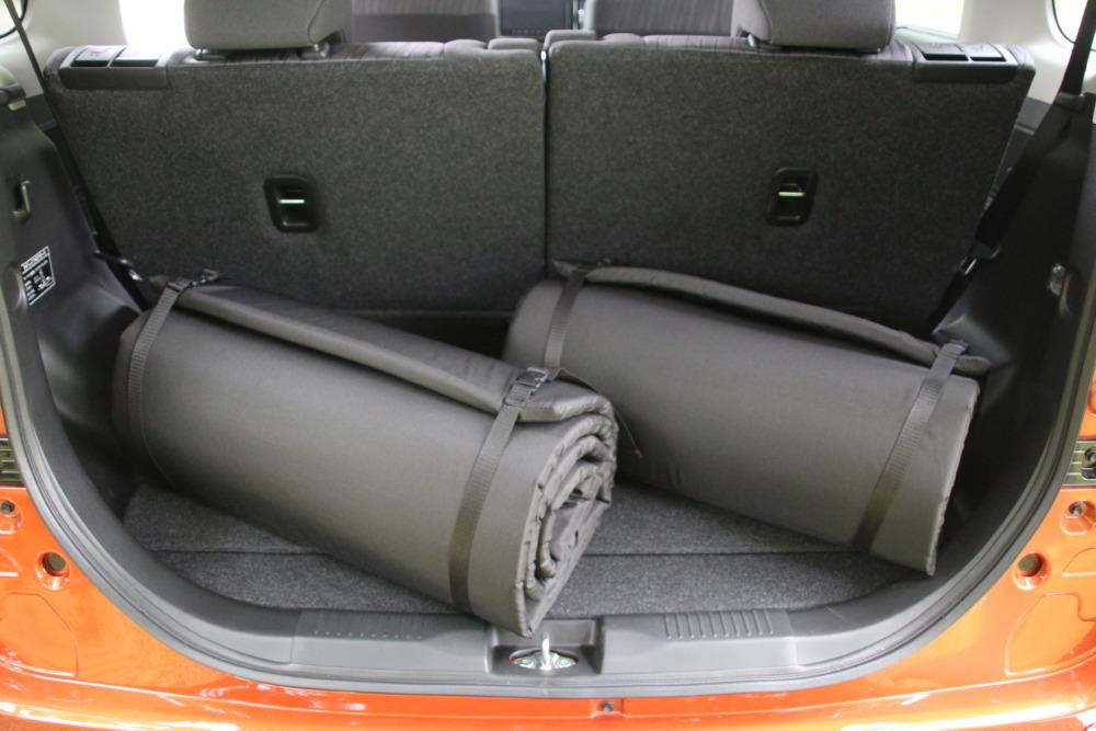 【新型ソリオの車中泊】全長2.1m 純正アクセサリーの「リラックスクッション」