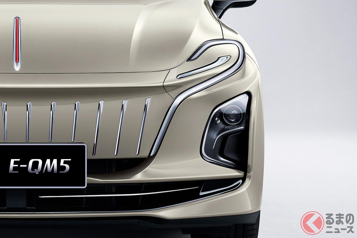 斬新デザインの新型「E-QM5」が凄い! ヘッドライトが無いような顔が魅力? 普通の人は買えない専用車の特徴とは