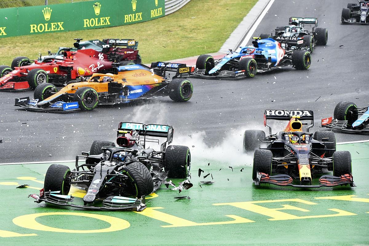 多重クラッシュ原因のバルテリ・ボッタス、次戦5グリッド降格ペナルティ「回避可能な衝突を引き起こした」 F1ハンガリーGP