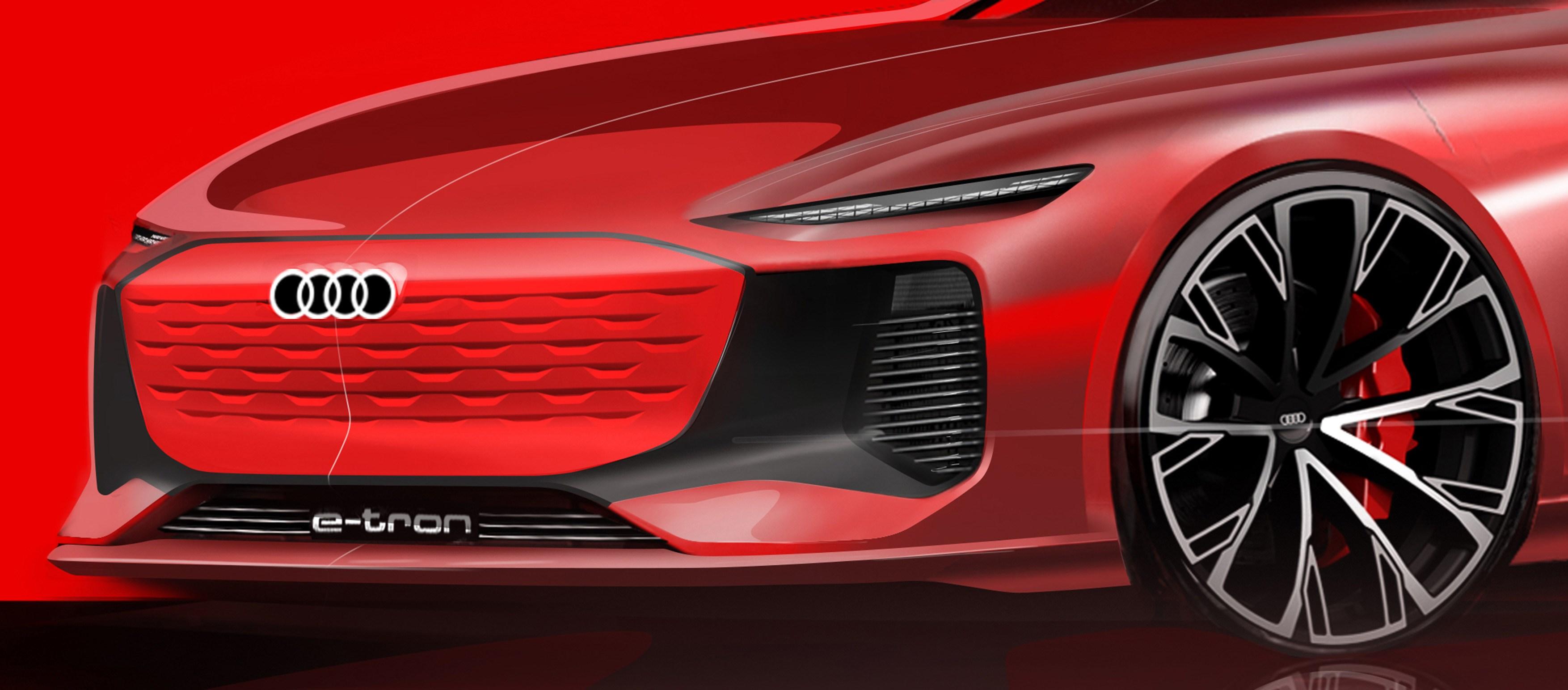 EV続々! アウディがe-tronの新型を予告。スケッチが示唆するのはe-tron GTより安価なセダン系?