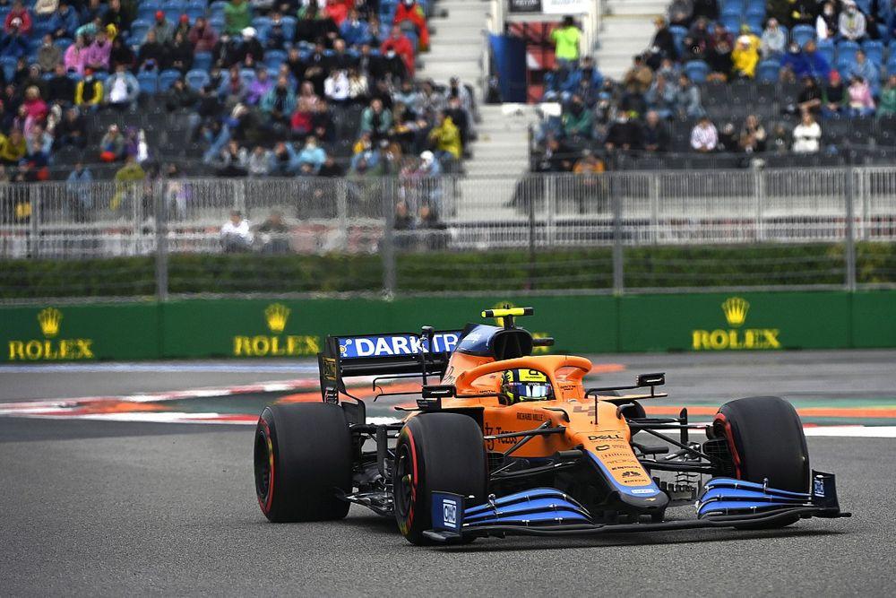 またもマクラーレンが躍動……ランド・ノリス、自身初PP獲得「かなりのリスクを冒した」 F1ロシアGP