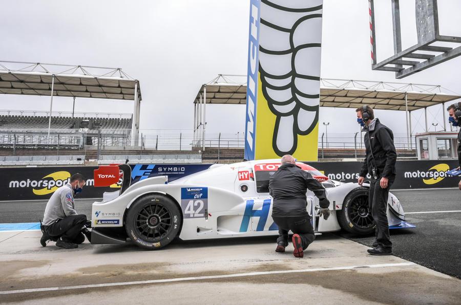 【ル・マン24時間に参戦】ミシュラン 燃料電池ハイパーカー発表 タイヤも持続可能素材