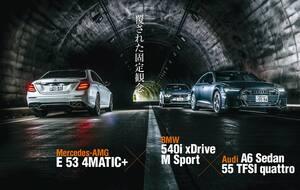 ドイツ製EセグメントAWDセダン「A6」「E53」「540i」を比較試乗。固定観念を覆す3台の乗り味とは?【Playback GENROQ 2019】