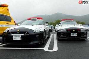 恐ろしい? それとも神々しい? 東北道に栃木と埼玉の「GT-R」パトカーが集結