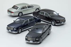 京商の人気車種「トヨタ・センチュリー」が43分の1スケールで発売! 全4色をラインアップ