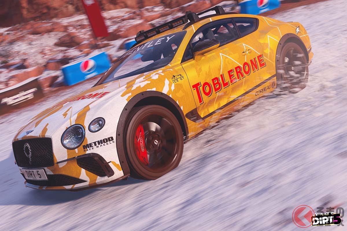 ベントレー「コンチネンタル GT アイスレースカー」で氷上レースのスリルを味わえる!? オフロードレースゲーム「DIRT 5」発売