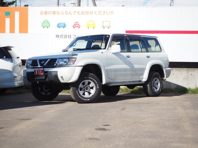 サファリ 4.2 グランロード ディーゼルターボ 4WD 5MT 7人乗 マッドタイヤ デフロック