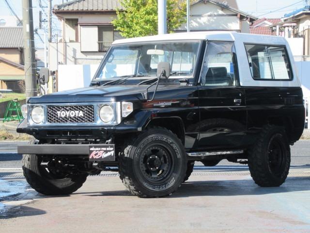 ランドクルーザー70 3.4 LX FRPトップ ディーゼルターボ 4WD NOX適合 社外ホイール ブラックペイント
