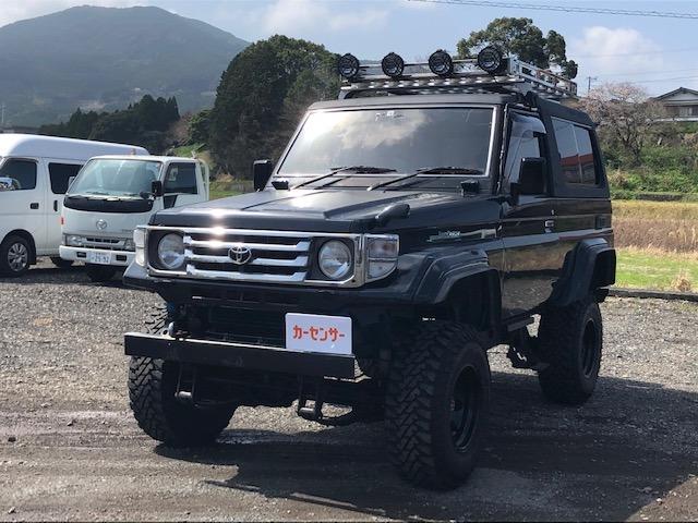 ランドクルーザー70 4.2 ZX FRPトップ ディーゼル 4WD 6インチリフトアップ サイドマフラー
