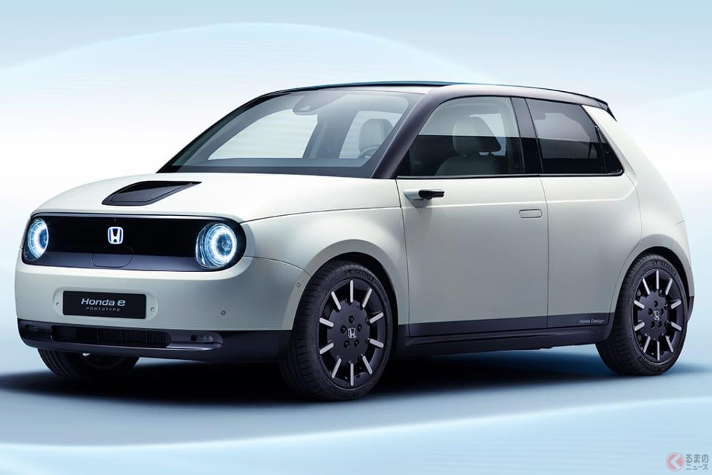 ホンダ初代シビック版のEV登場? 新型電気自動車「Honda e」世界初公開