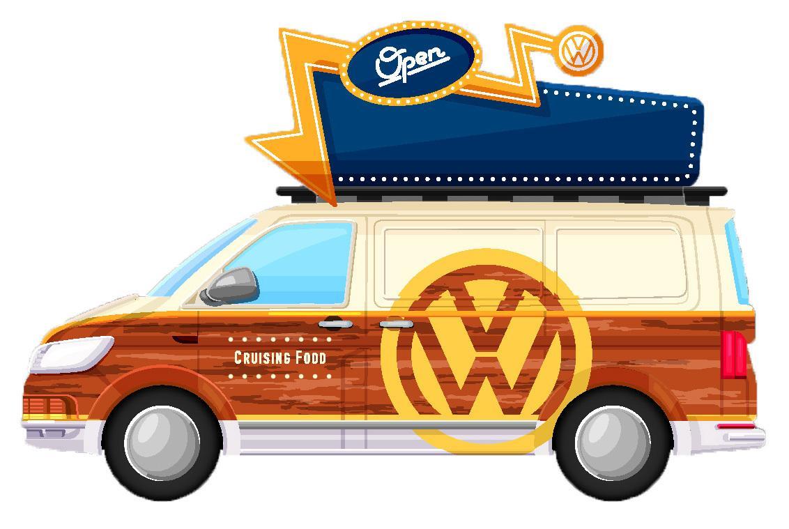 かわいいカラーリングのワーゲンバスがやってくる! VWがイベントを盛り上げてくれるキャンペーンを実施