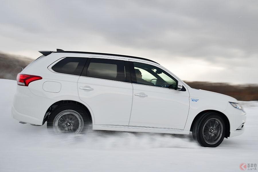 「ランエボ」譲りの四駆も搭載した三菱SUVの雪上での走破性は? 冬の北海道で試す