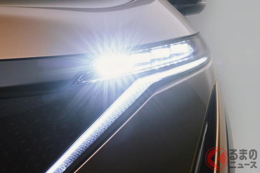 日産 新型SUV「アリア」 走りに自信!? ワインディングを疾走する姿を公開
