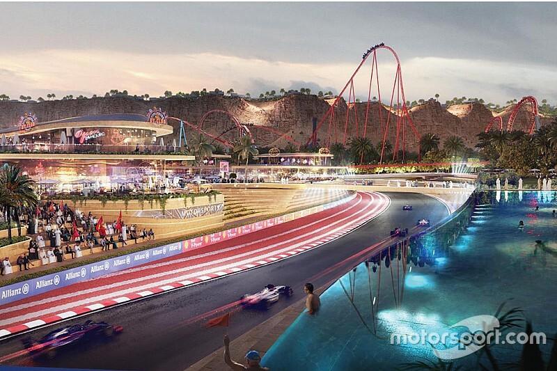 サウジアラビアに建設中の新サーキット。2023年F1開催を目指す? コース横には世界最速コースターも