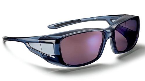 メガネの上からもかけられる!道路や信号の注意喚起色を強調するSWANSのオーバグラス偏光ULTRAレンズ