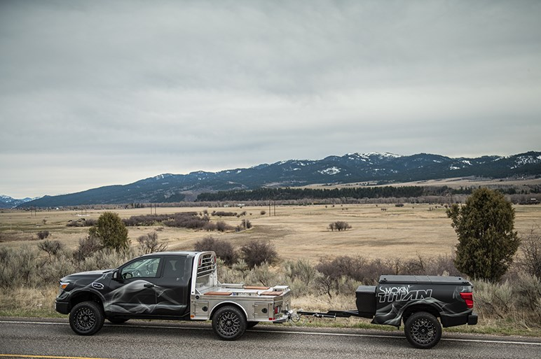 BBQが楽しめる! 米日産、タイタンXDのコンセプトカーを公開