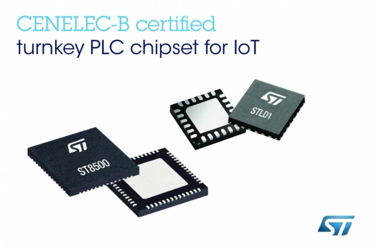 STマイクロエレクトロニクス: 新しいプロトコルに対応したクラス最高の電力線通信チップセットを発表