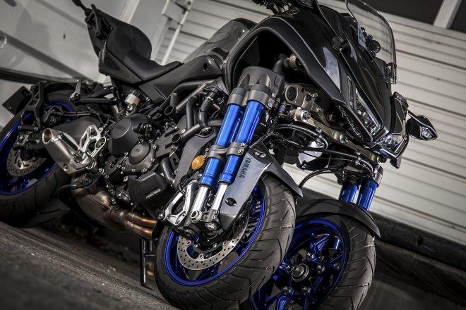 衝撃の大型3輪ヤマハNIKEN。操作性はスポーツバイクそのもの/市販車試乗レポート