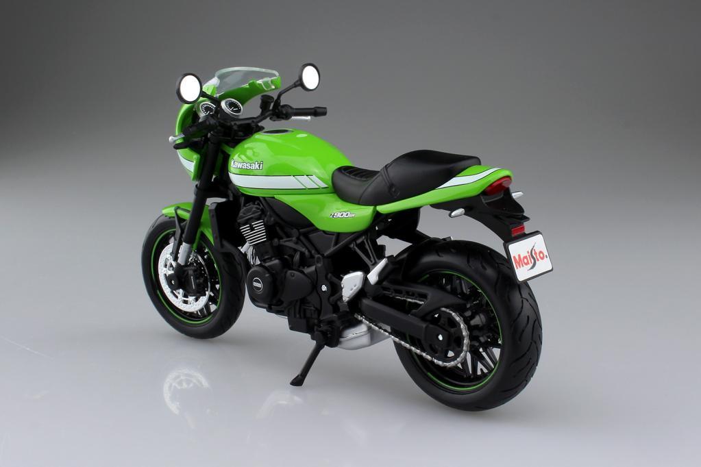 【カワサキZ900RS】実車は約130万円だけど、アオシマなら2500円! 塗装済みの完成品の1/12プラモデル