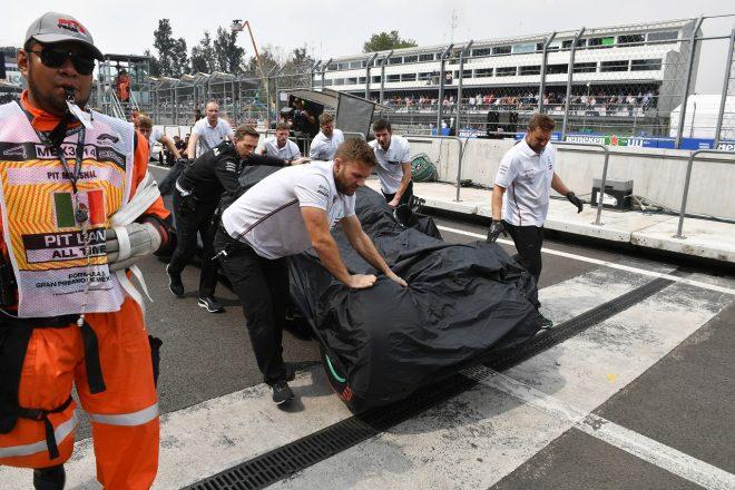 ボッタス、クラッシュでマシンが大破。メルセデス代表「6番グリッドからスタートできると90パーセント確信」:F1メキシコGP