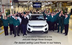 ランドローバー 「レンジローバー・イヴォーク」が史上最速で生産台数50万台を達成