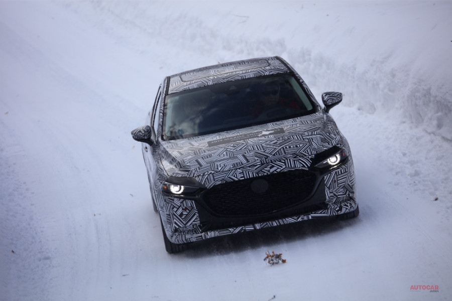 新型マツダ3(アクセラ)開発車に試乗 新旧・雪上評価で見えた、シャシー制御の進化