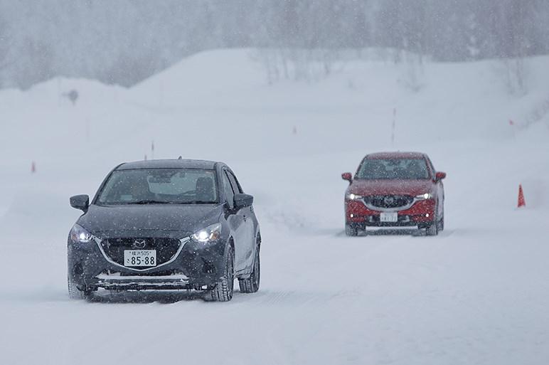 CX-8ほかに雪上試乗。マツダ車に感じる一本筋が通った走りの中身に触れた