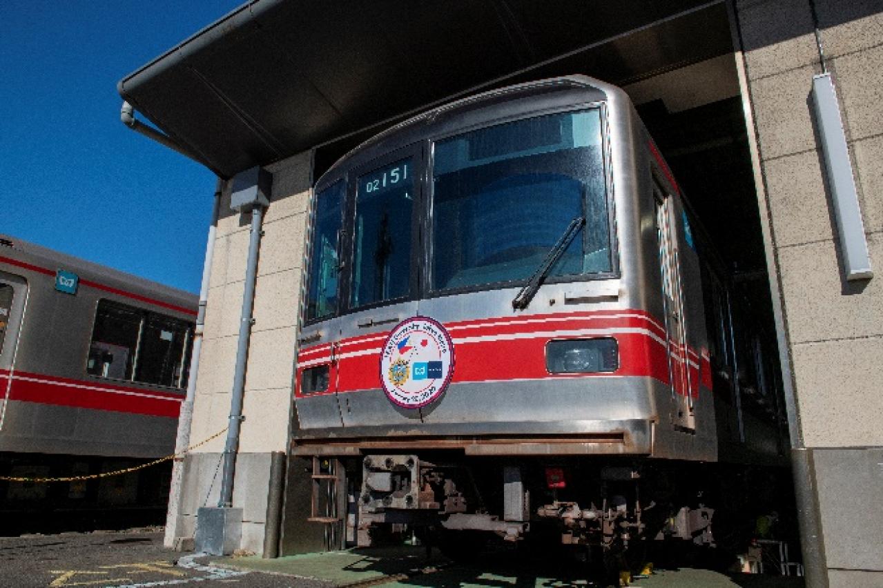 東京メトロ:フィリピンFEATI大学へ丸ノ内線02系車両を譲渡