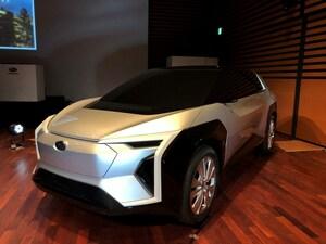 スバルがトヨタと共同開発中の電動SUVのデザインスタディを公開。そのディテールに迫る